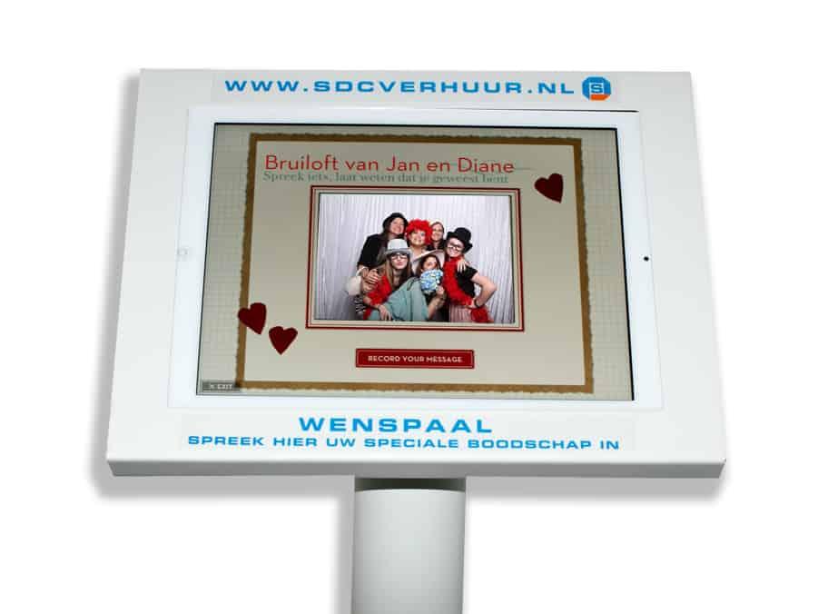 Videozuil voor gastenboek